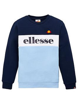 Ellesse Ellesse Older Boys Denomino Crew Neck Sweatshirt - Light Blue Picture