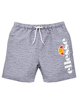 ellesse-older-boys-bervios-swim-shorts-grey-marl
