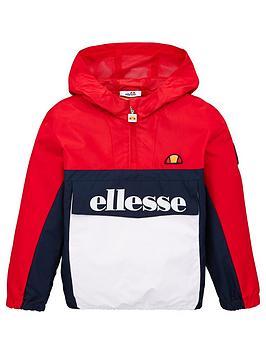 ellesse-younger-boys-garinos-12-zip-jacket-red