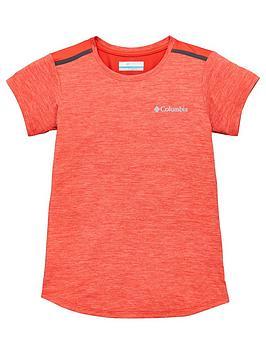 Columbia Columbia Girls Tech Trek&Trade; Short Sleeve T-Shirt - Coral Picture
