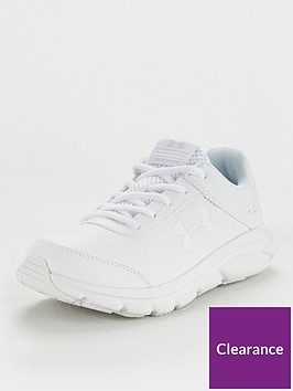 under-armour-junior-assert-8-synthetic-trainers-white