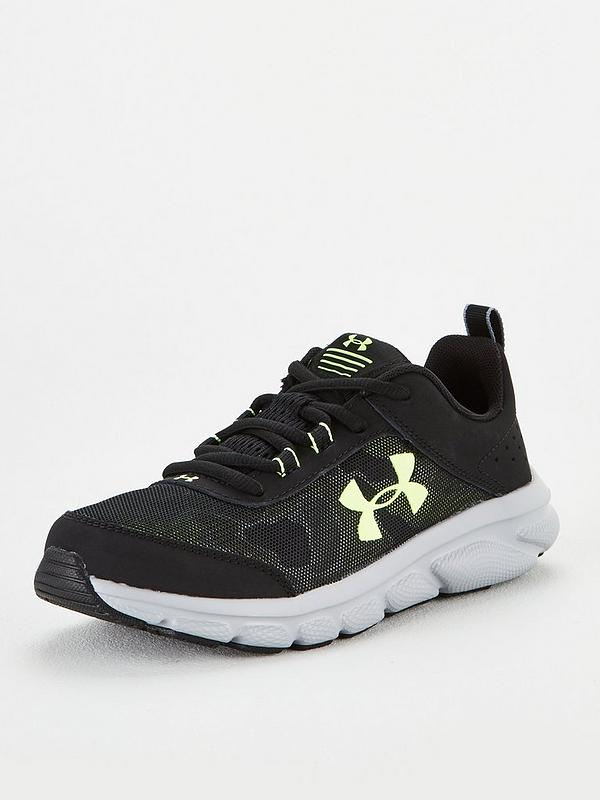 acampar semilla Soldado  UNDER ARMOUR Junior Assert 8 Trainers - Black/Grey | littlewoods.com
