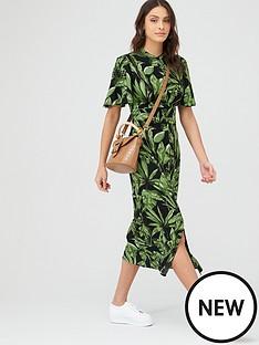 v-by-very-angel-sleeve-midaxi-shirt-dress-black-botanical