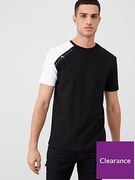 river-island-black-maison-riviera-tape-slim-fit-t-shirt