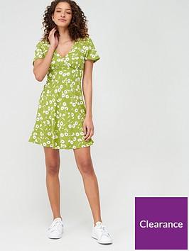 v-by-very-crepe-short-sleeved-mini-dress-print