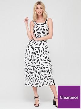v-by-very-belted-asymmetrical-seam-maxinbspdress-polka-dot
