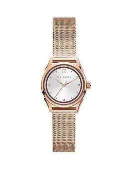 Ted Baker Ted Baker Ted Baker Silver Sunray And Pink Detail Dial Rose Gold  ... Picture