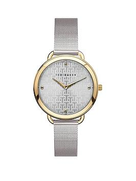 Ted Baker Ted Baker Ted Baker Silver And Gold Detail Dial Stainless Steel  ... Picture