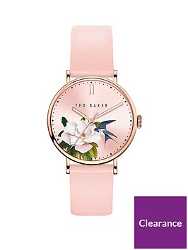 ted-baker-ted-baker-pink-floral-dial-pink-leather-strap-ladies-watch