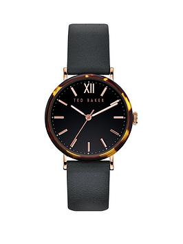 Ted Baker Ted Baker Ted Baker Black And Tortoise Shell Case Dial Black  ... Picture