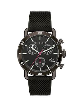 Ted Baker Ted Baker Ted Baker Black And Pink Detail Chronograph Dial Black  ... Picture