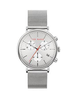 Ted Baker Ted Baker Ted Baker Silver Sunray Dial Stainless Steel Mesh  ... Picture