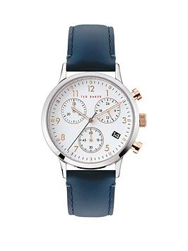 Ted Baker Ted Baker Ted Baker Cream And Rose Gold Detail Chronograph Dial  ... Picture