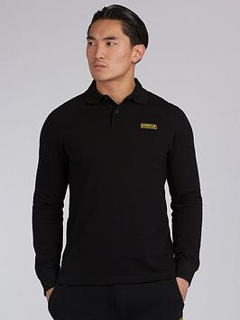 Barbour International Barbour International Long Sleeve Polo Shirt - Black Picture