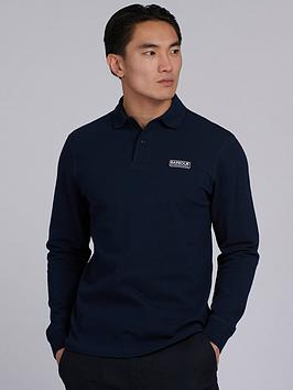 Barbour International Barbour International Long Sleeve Polo Shirt - Navy Picture