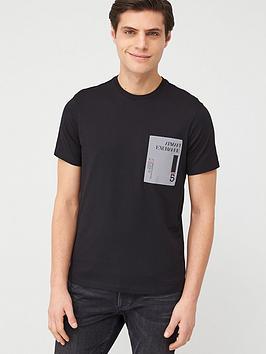 Armani Exchange Armani Exchange Reflective Print Logo T-Shirt - Black Picture