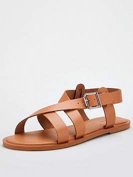 V by Very V By Very Humbug Leather Strappy Sandal - Tan Picture