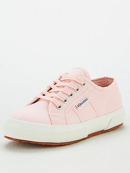 Superga Superga Girls 2750 Jcot Classic Lace Up Plimsoll Pumps - Pink Picture