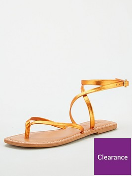 v-by-very-baker-leather-barely-there-flat-sandals-orange