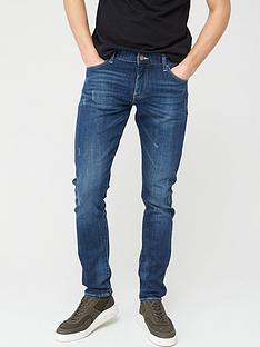 armani-exchange-j14-skinny-fit-dark-vintage-wash-jeans-navy