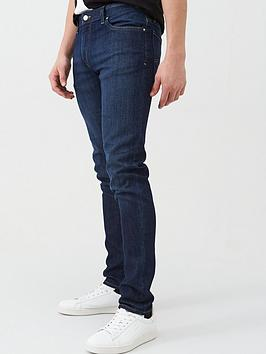 armani-exchange-j14-skinny-fit-rinse-wash-jeans-blue