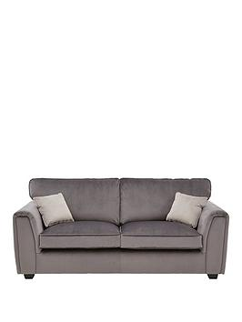 Very Odion Fabric 3 Seater Standard Back Sofa Picture