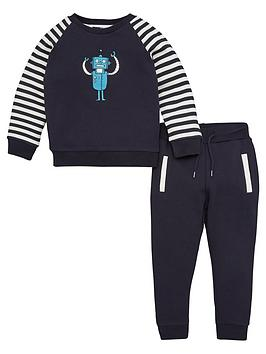 V by Very V By Very Boys Robot Striped Sleeve Tracksuit Picture