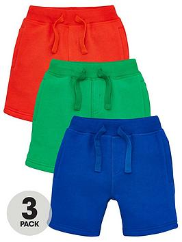 V by Very V By Very Boys 3 Pack Jogger Shorts - Multi Picture