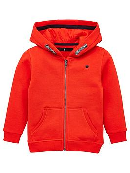 V by Very V By Very Boys Zip Through Hoodie - Red Picture