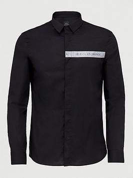 Armani Exchange Armani Exchange Reflective Panel Shirt - Black Picture