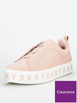 dkny-bashi-slip-on-logo-platform-trainers-pink