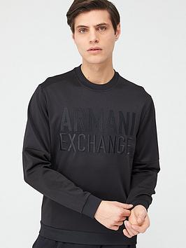 Armani Exchange Armani Exchange Embossed Logo Sweatshirt - Black Picture