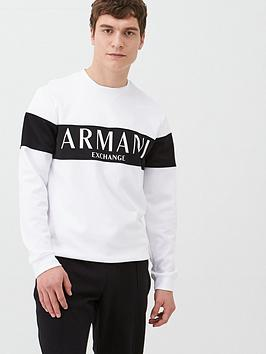 Armani Exchange Armani Exchange Panel Logo Sweatshirt - White Picture
