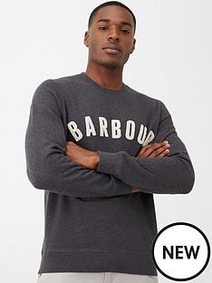 barbour-prep-logo-sweatshirt-slate-marl