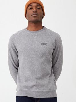 barbour-international-essential-sweatshirt-anthracite-marl