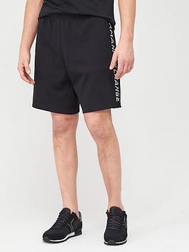 Armani Exchange Armani Exchange Taping Logo Jersey Shorts - Black Picture