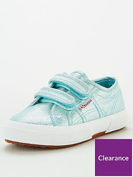 superga-girls-2750-cotj-lame-strap-plimsoll-pumps-blue