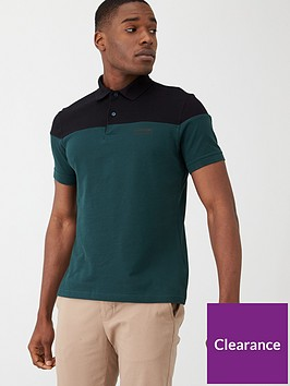 barbour-international-curve-colour-block-polo-shirt-tealblack