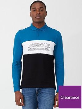barbour-international-panel-long-sleeve-polo-shirt-aquawhiteblack