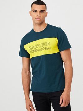 Barbour International Barbour International Panel Logo T-Shirt - Pine Green Picture