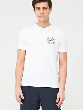 Armani Exchange Armani Exchange Round Ax Logo T-Shirt - White Picture