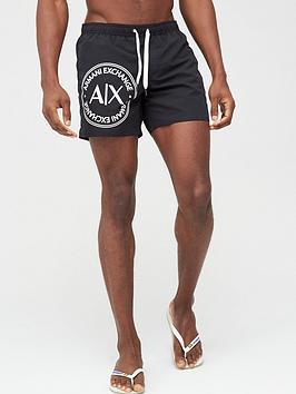 Armani Exchange Armani Exchange Large Ax Logo Swim Shorts - Black Picture