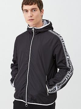 Armani Exchange    Taping Logo Hooded Jacket