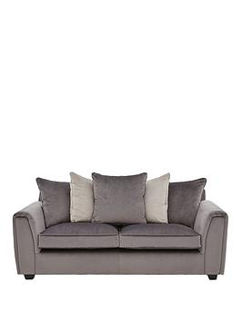 Very Odion Fabric 3 Seater Scatter Back Sofa Picture