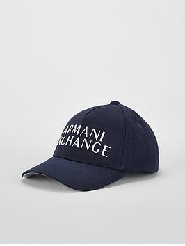 Armani Exchange   Logo Baseball Cap - Navy