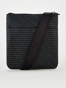 armani-exchange-all-over-logo-cross-body-bag-black