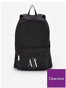 armani-exchange-contrast-logo-backpack-black