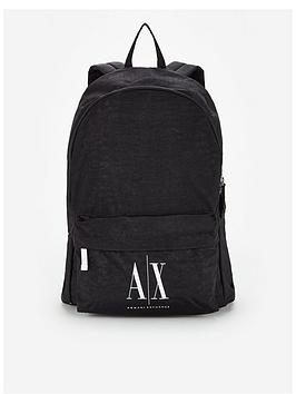 Armani Exchange   Contrast Logo Backpack - Black