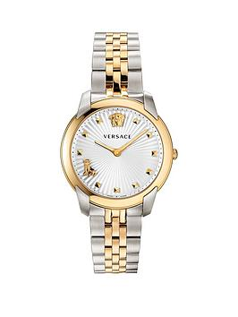 Versace Versace Versace Audrey Silver And Gold Detail Dial Two Tone  ... Picture