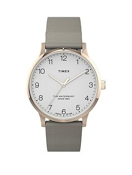 Timex Timex Timex Waterbury White And Rose Gold Detail 36Mm Dial Tan  ... Picture